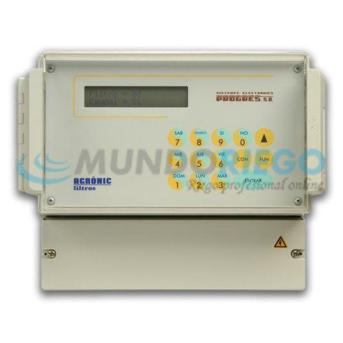 Programador Agrónic 12 filtros 12V DC latch 3 hilos caja