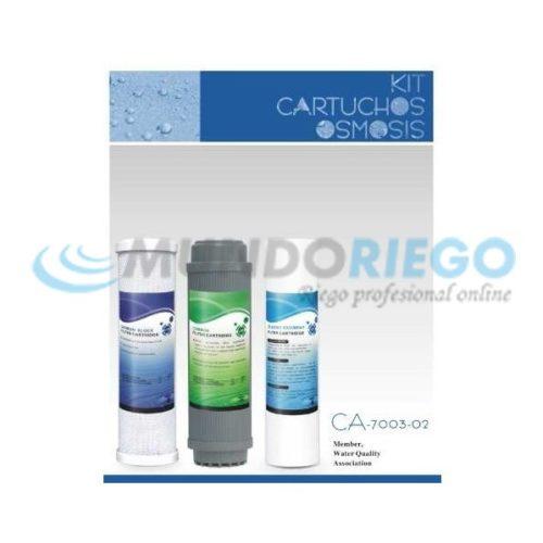 Kit Recambio Cartuchos osmosis 5 etapas Nereo