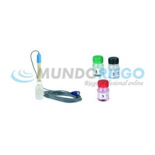 Electrodo pH con soluciones de calibración R:36004