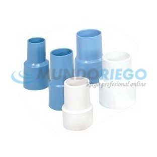 Terminal manguera color azul Ø50mm PVC flexible R:01386