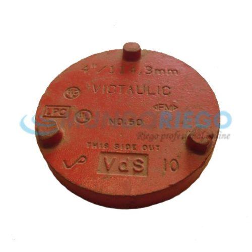 Tapón VICTAULIC metal rojo 4''