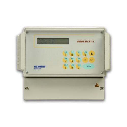 Programador Agrónic 6 filtros 12V DC latch 3 hilos caja