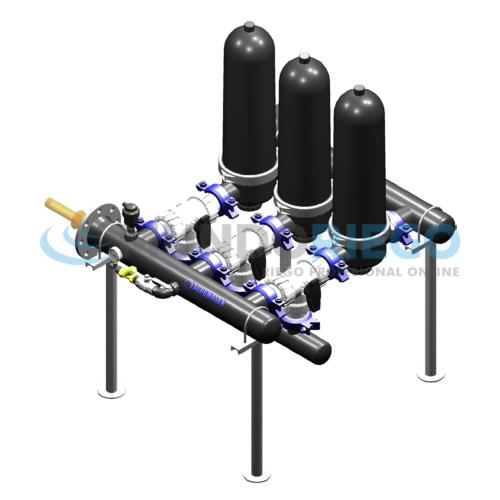 """Equipo filtrado anillas autolimpiante 3"""" batería 2 uds. CON unidad de control"""